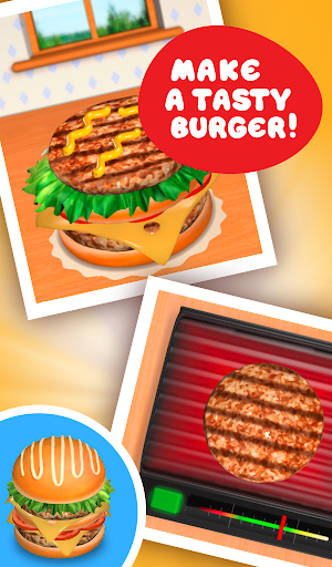 Burger Deluxe - Cooking Games apkpoly screenshots 14