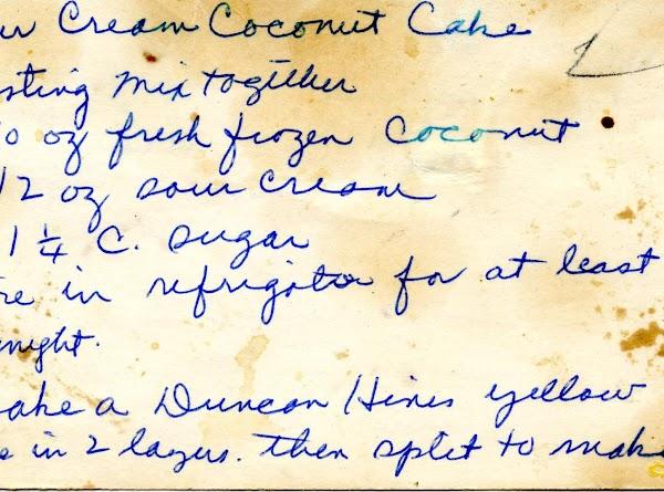 Sour Cream Coconut Cake Recipe