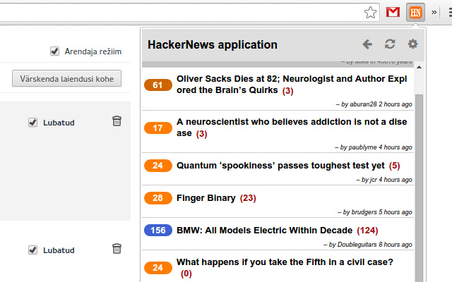 HackerNews reader