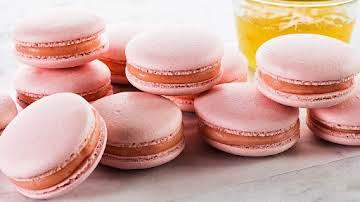 Rose-Champagne Macarons