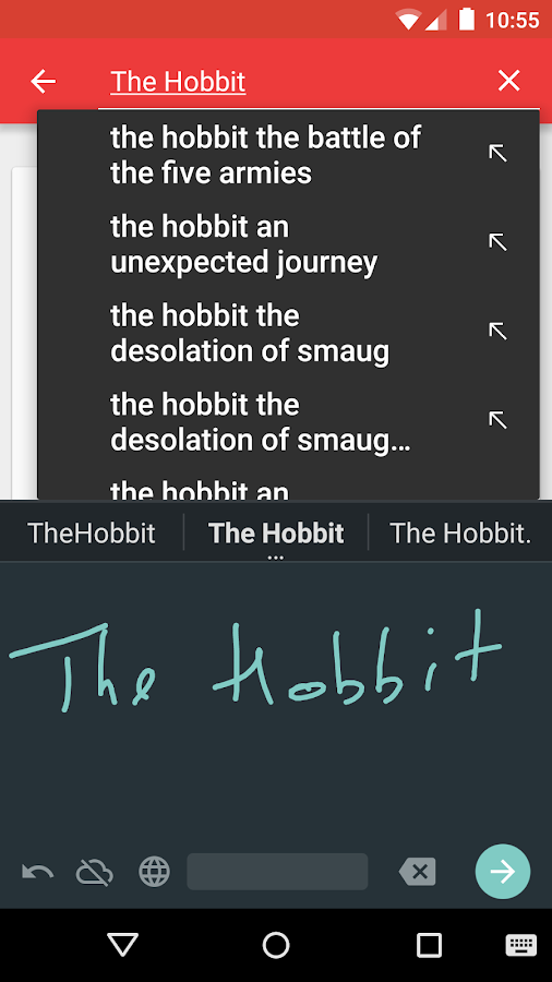 Google Handwriting Input- screenshot