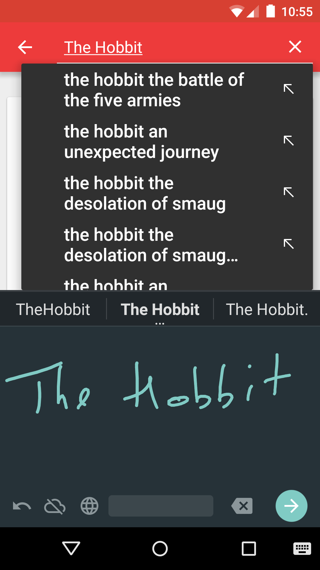 Google Handwriting Input screenshot #6