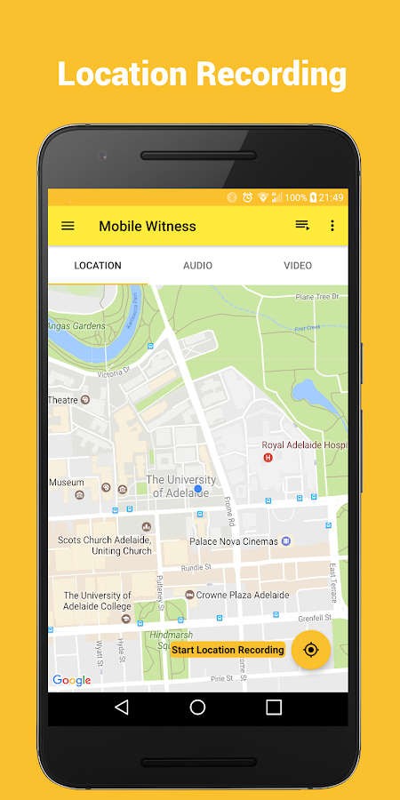 Mobile Witness- screenshot