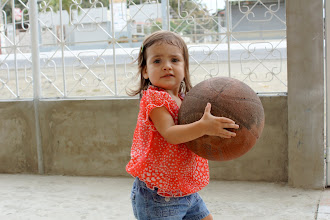 Photo: Basketball on Mom and Dad's front patio.
