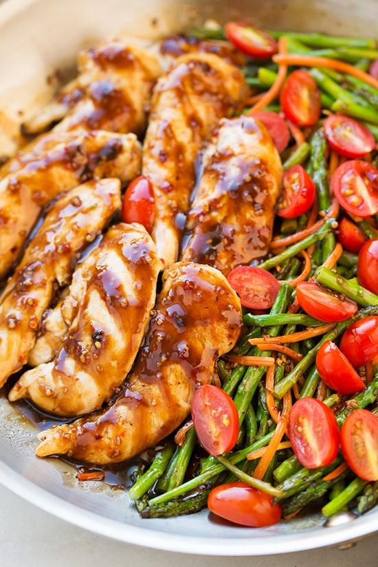 One Pan Balsamic Chicken and Veggies | Cooking Classy