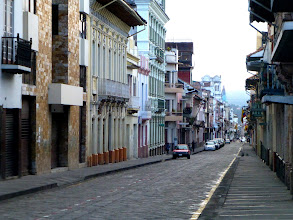 Photo: A main street in Cuenca on Sunday morning -- free of traffic as at almost no other time