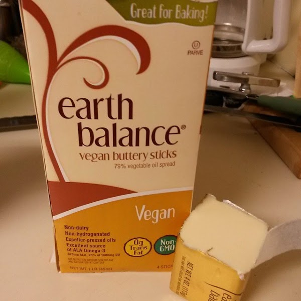 From Instagram: Earth Balance in place of butter. https://instagram.com/p/3Fac7MGJvq/