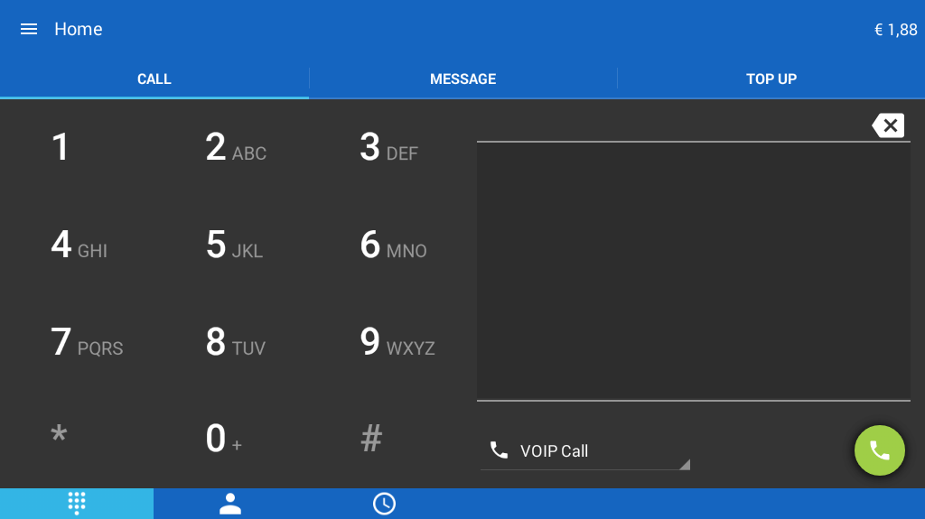 Jumblo - Mobile Sip calls- screenshot