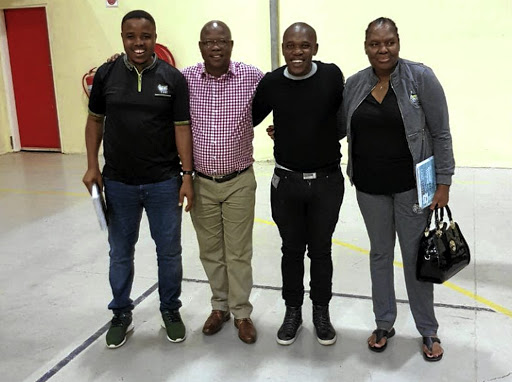 Vincent Myeni, far right, in the company of ANC KwaZulu-Natal provincial heavyweights Mthandeni Dlungwane, left, and Super Zuma.