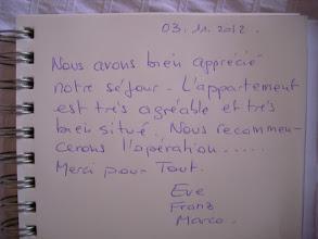 Photo: Merci pour votre aimable commentaire laissé sur ma location de vacances Nuits Citadines à Dijon