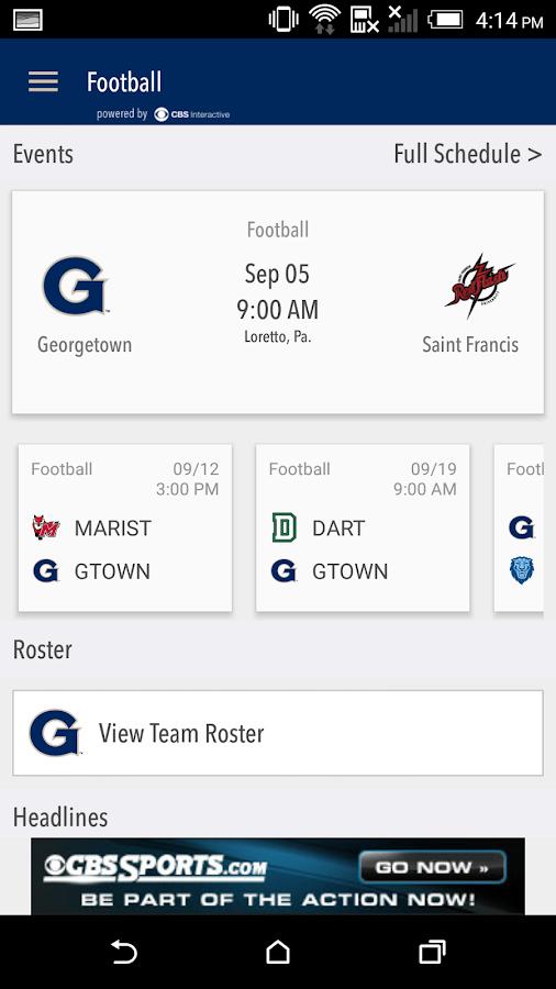GU Hoyas Gameday LIVE- screenshot