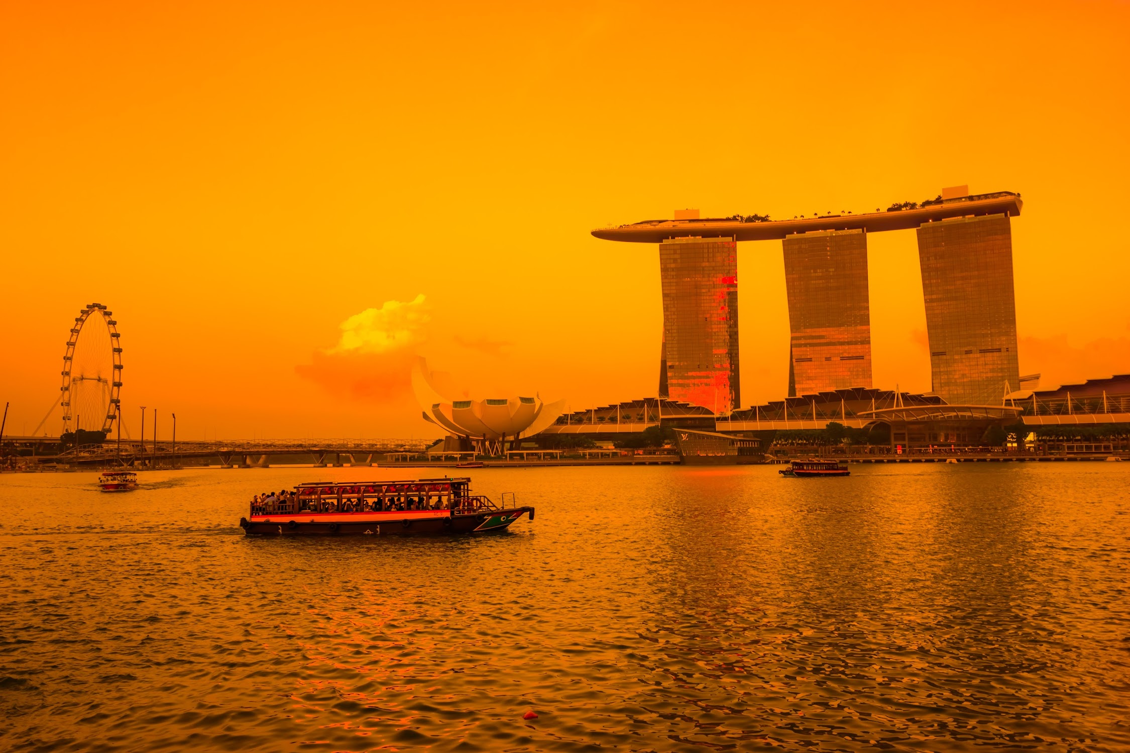 Singapore Marina Bay Sands sunset1