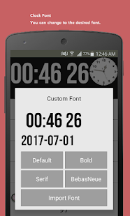 Date seconds Widget - náhled