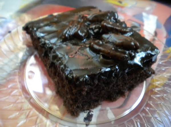 Grandma's Sheet Cake Brownies