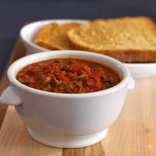 Crock Pot Ground Beef and Sausage Chili.