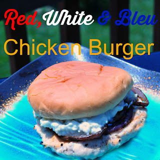 Red White and Bleu Chicken Burger.