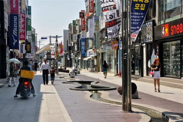 Pohang city shopping area