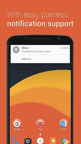 Metal for Facebook & Twitter Screenshot
