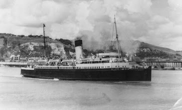 "Photo: ""Canterbury"" leaving Dover for Calais May 1929"