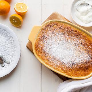Meyer Lemon Buttermilk Pudding.