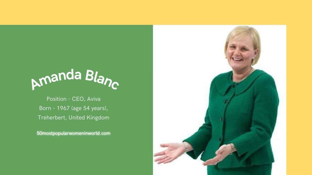 Included in 50 most popular women list Amanda Blanc