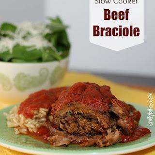 Slow Cooker Beef Braciole Recipe