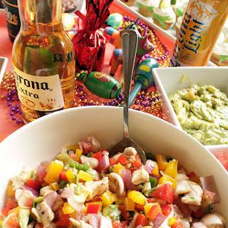 Fish and Avocado Ceviche.