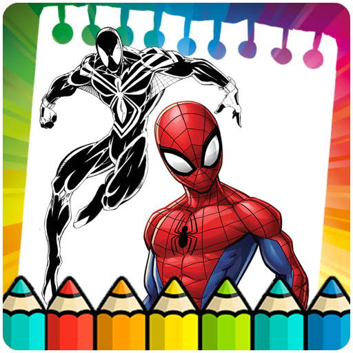 Coloring page for the amazing spider hero (game)