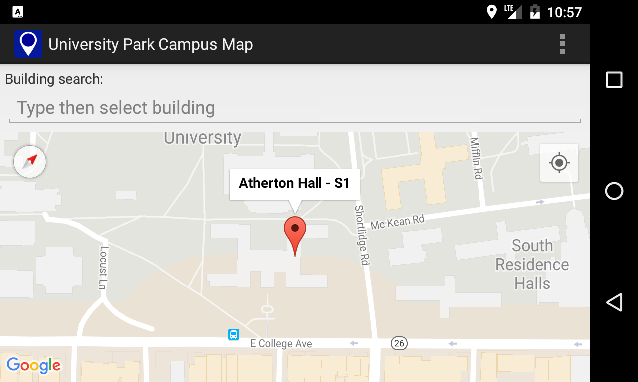 Campus Map for Penn State- screenshot