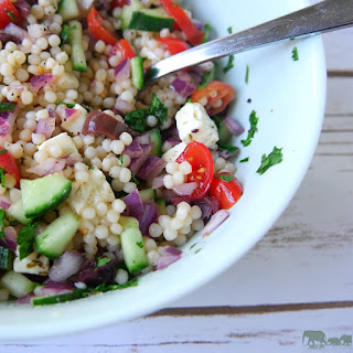 Israeli Couscous Salad with Feta.