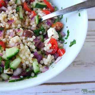 Israeli Couscous Salad with Feta.