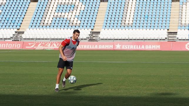 Primer entrenamiento de Gonzalo Bueno.