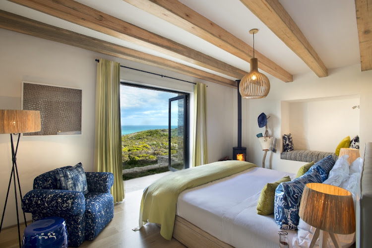 Morukuru Ocean House's bedroom with view.