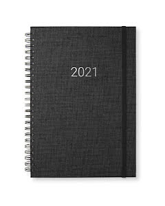 Kalender 2021 Newport vecka/notes Transparent Black