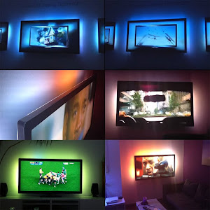 Banda LED RGB 5 metri, 5V, alimentare USB cu telecomanda