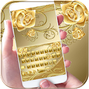 App Gold Rose Keyboard Theme APK for Windows Phone