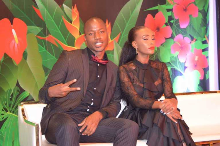 Former couple Tony Kwalanda and Joyce Maina