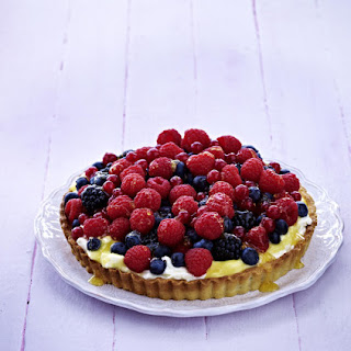Apricot and Berry Cheesecake.