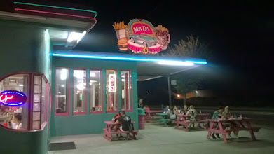 Photo: August 14-I pulled into Kingman to discover the National Route 66 Festival was kicking off THAT NIGHT in the park adjacent to Mr. D'z.