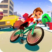 Blocky Bicycle Driver 2017
