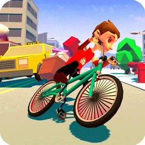 Blocky Bicycle Driver 2017 for PC and MAC