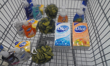Photo: I had to stop here and think about what I have picked up. I divided things up to think about how many people this would serve. I could go really crazy buying up all the different Dial soaps.