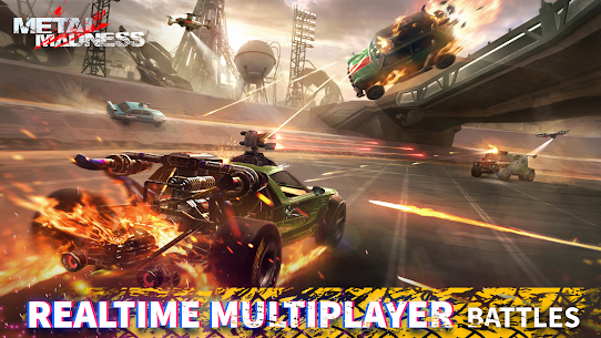 METAL MADNESS PvP: Car Shooter & Twisted Action MOD (Damage) 3