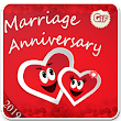 Happy anniversary image gif with add name & pic icon