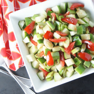 Summer Cucumber Salad with Honey Balsamic Vinaigrette