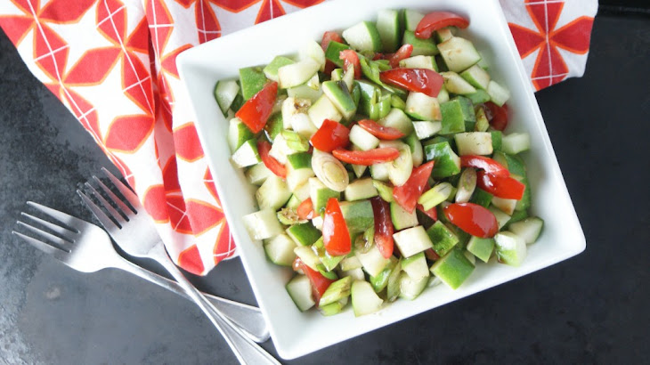 Summer Cucumber Salad with Honey Balsamic Vinaigrette Recipe
