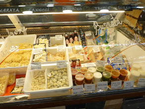 Photo: pasta, pasta, and more pasta, and pasta sauce, and empanadas, and cheese and butter . . .