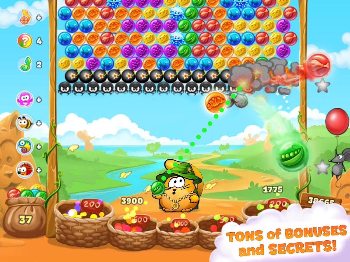 Bubble Cat Adventures: shoot and pop the bubbles!- screenshot