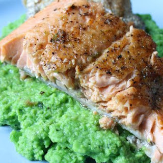 Rainbow Trout With Basil Pea Puree