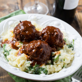 Braised Meatballs in Red Wine Gravy